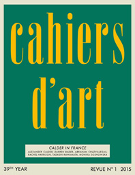 Cahiers d'Art N°1, 2015: Calder in France Cover