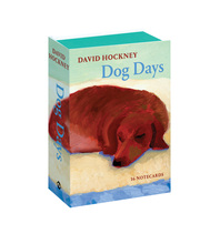 David Hockney Dog Days: Notecards Cover