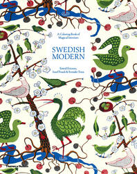 Swedish Modern: Estrid Ericson, Josef Frank, and Svenskt Tenn: A Coloring Book of Magical Interiors Cover