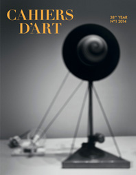 Cahiers d'Art Issue N°1, 2014: Hiroshi Sugimoto: 38th Year - 100th Issue Cover