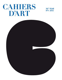 Cahiers d'Art Issue N°1, 2012 Cover